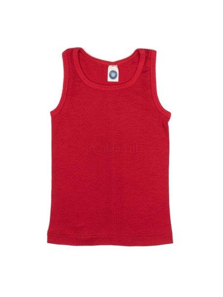 Cosilana Kids Sleeveless Vest Wool/Silk - Red