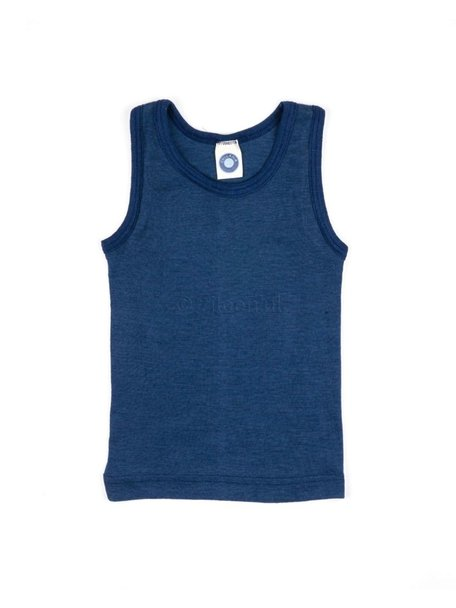 Cosilana Kids Sleeveless Vest Wool/Silk - Navy