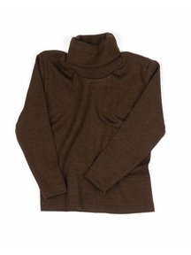 Cosilana Kids Turtleneck Wool/Silk - Brown