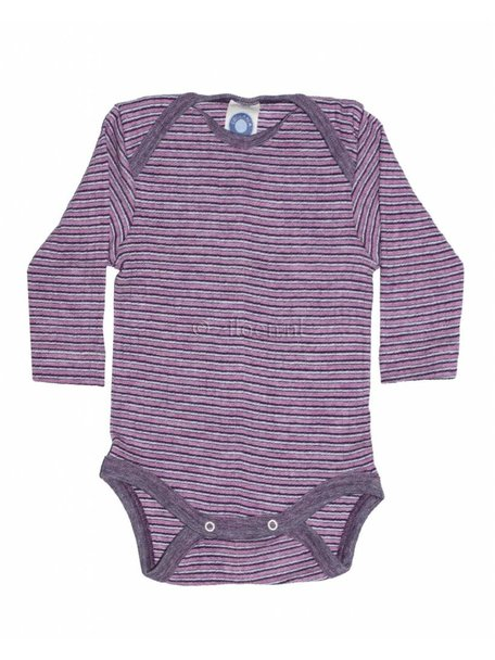 Cosilana Baby Body Wool/Silk/Cotton Striped - Purple/Pink