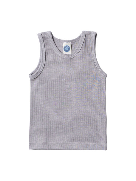 Cosilana Sleeveless Vest Kids Wool/Silk/Cotton - Grey