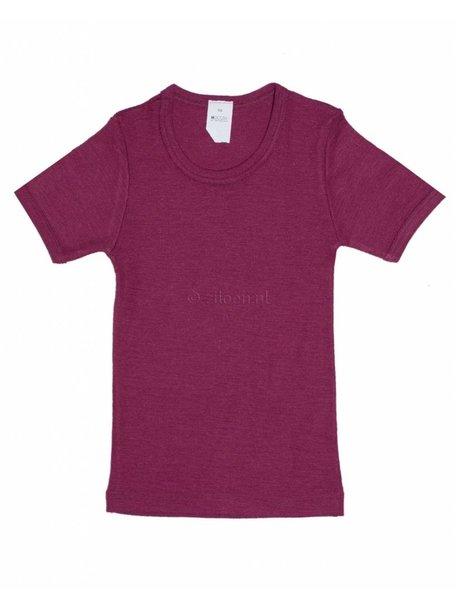 Hocosa Kids T-Shirt Wool/Silk - Burgundy