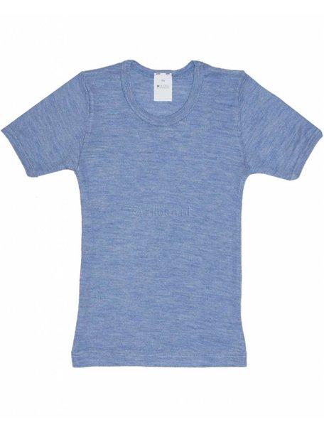 Hocosa Kids T-Shirt Wool/Silk - Blue