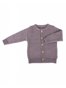 Popolini iobio Cardigan Merino Wool - Brown