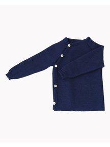 Popolini iobio Wrap cardigan wool - navy