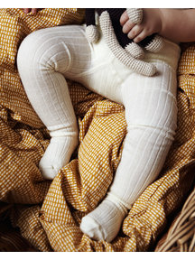 MP Denmark Wool Rib Tights - Snow White