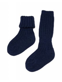 Grödo Thick Baby Socks Wool - Dark Blue