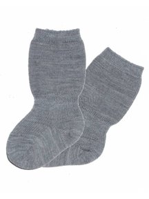 Grödo Baby Socks Wool - Grey