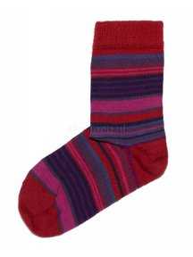 Grödo Wool socks - red striped