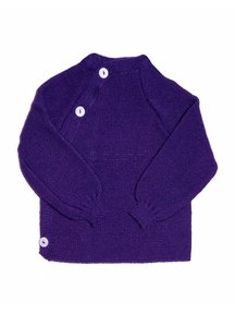 Reiff Cardigan Organic Wool - Purple