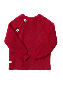 Reiff Cardigan Organic Wool - red