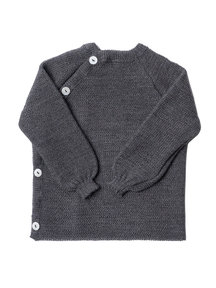 Reiff Cardigan Organic Wool - grey