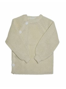 Reiff Cardigan Organic Wool - natural