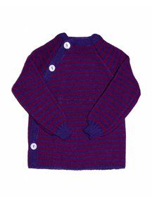 Reiff Cardigan Organic Wool - Purple/Pink