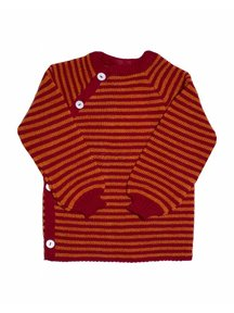 Reiff Cardigan Organic Wool - Red/Orange