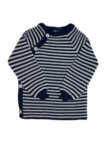 Reiff Cardigan Organic Wool - navy/natural