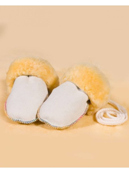 Christ Natural Lambskin Baby Mittens