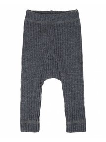 Joha Heavy Rib Pants wool - Dark  grey melange