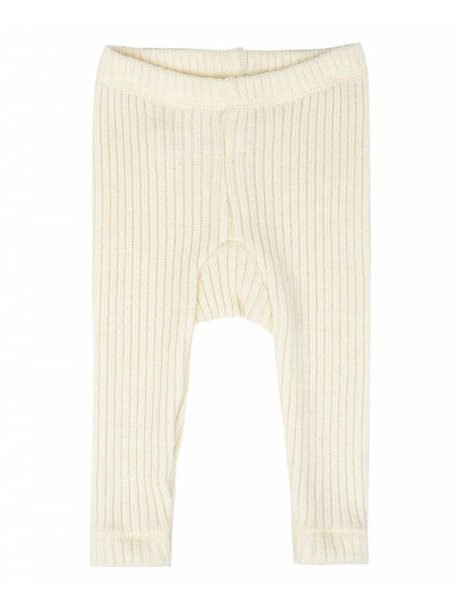 Joha Heavy Rib Pants wool - Natural