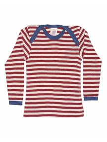 Engel Natur Longsleeve Baby Shirt Wool - Red