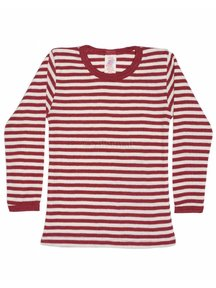 Engel Natur Longsleeve Striped Vest Wool - Red