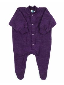 Cosilana Pyjamas With Feet Terry Wool Frotté - Purple