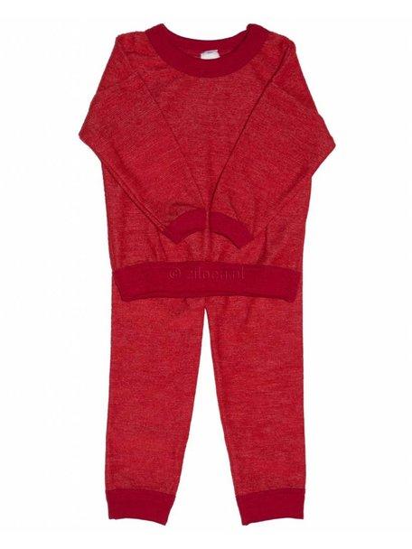 Cosilana Pyjamas Two Piece Organic Wool - Red