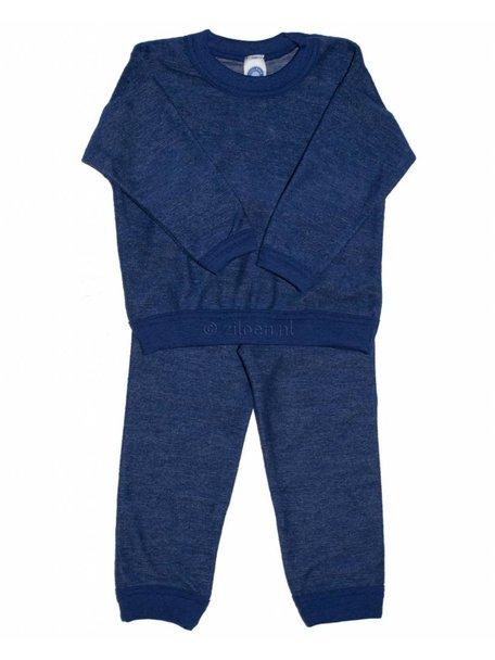 Cosilana Pyjamas Two Piece Organic Wool - Navy