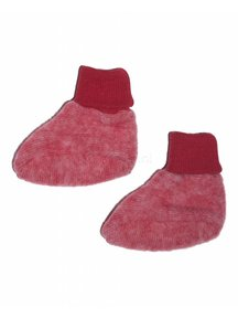 Cosilana Baby Booties Wool Fleece - Red