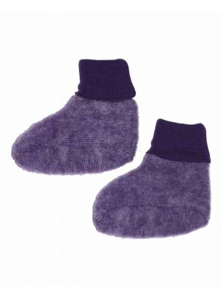 Cosilana Baby Booties Wool Fleece - Purple