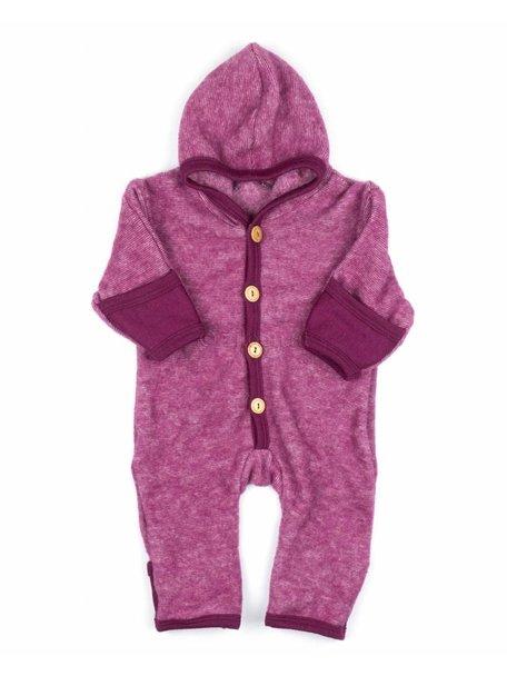Cosilana Baby Overall Wool Fleece - Burgundy