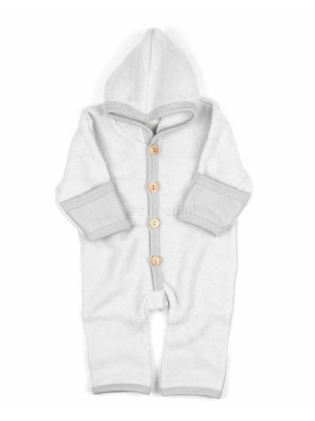 Cosilana Baby Overall Wool Fleece - Light grey