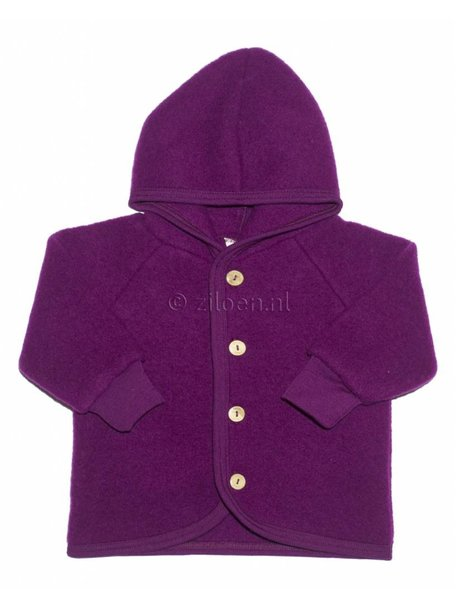 Engel Natur Wool Fleece Jacket - Berry