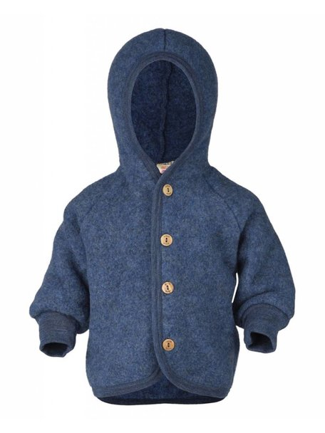 Engel Natur Wool Fleece Jacket - Blue