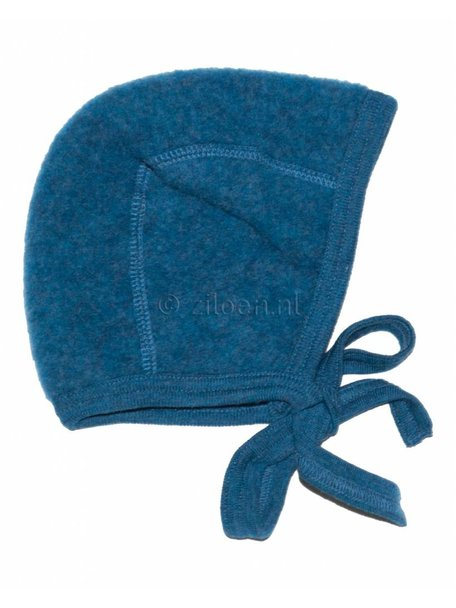 Engel Natur Bonnet Wool Fleece - Petrol