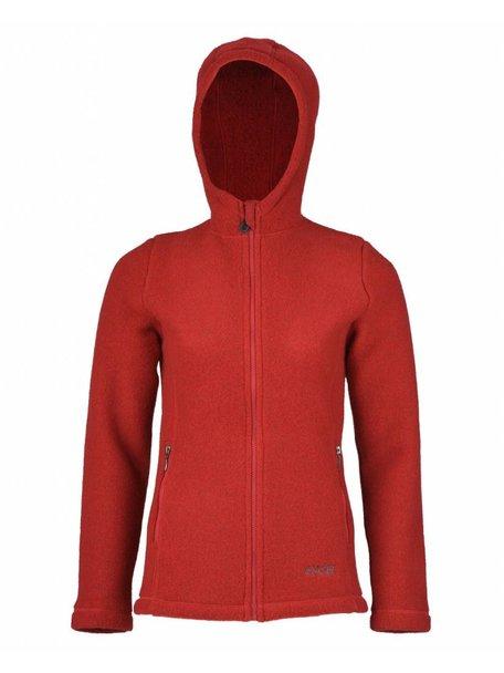 Engel Natur Women's jacket wool fleece - red