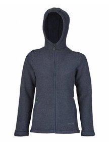 Engel Natur Women's jacket wool fleece - blue