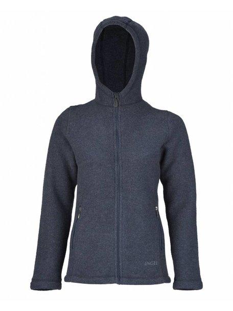 Engel Natur Jacket Women Wool Fleece - Blue