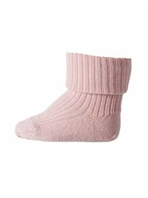 MP Denmark Wool Rib Turn Down Socks - Wood Rose