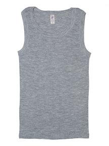 Engel Natur Sleeveless Vest Men Wool/Silk - Grey