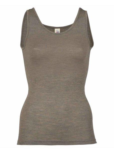 Engel Natur Sleeveless Vest Women Wool/Silk - Brown