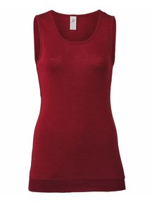 Engel Natur Sleeveless Vest Women Extra Long Wool/Silk - Mauve