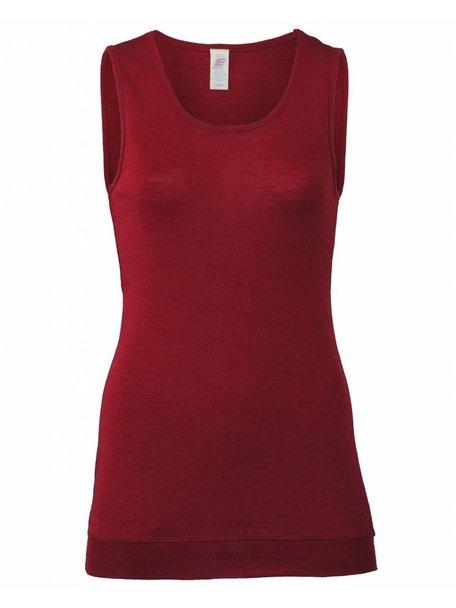 Engel Natur Sleeveless Vest Women Extra Long Wool/Silk - Mauve
