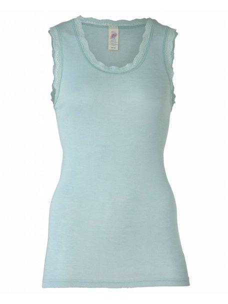 Engel Natur Sleeveless Vest Women Lace Wool/Silk- Glacier