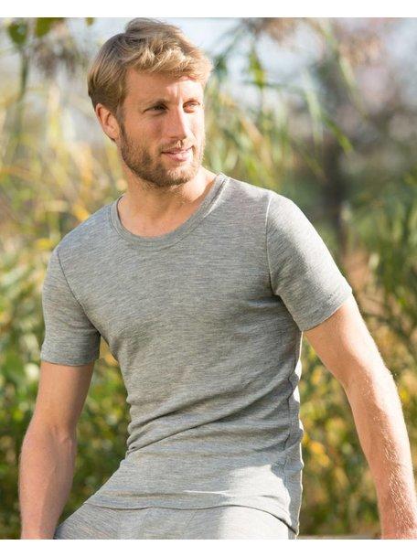 Engel Natur T- Shirt Men Wool/Silk - Grey