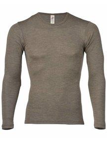 Engel Natur Longsleeve Men Wool/Silk - Brown