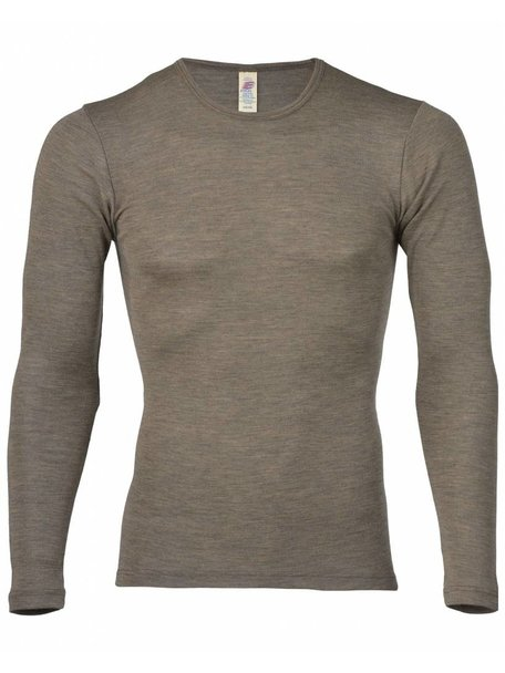 Engel Natur Longsleeve Men Wool/Silk - Brown
