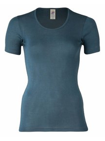 Engel Natur T- Shirt Women Wool/Silk - Atlantic