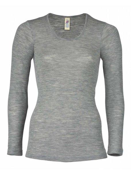 Engel Natur Longsleeve Women Wool/Silk - Grey