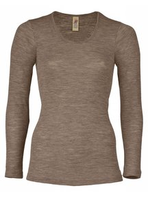 Engel Natur Longsleeve Women Wool/Silk - Brown